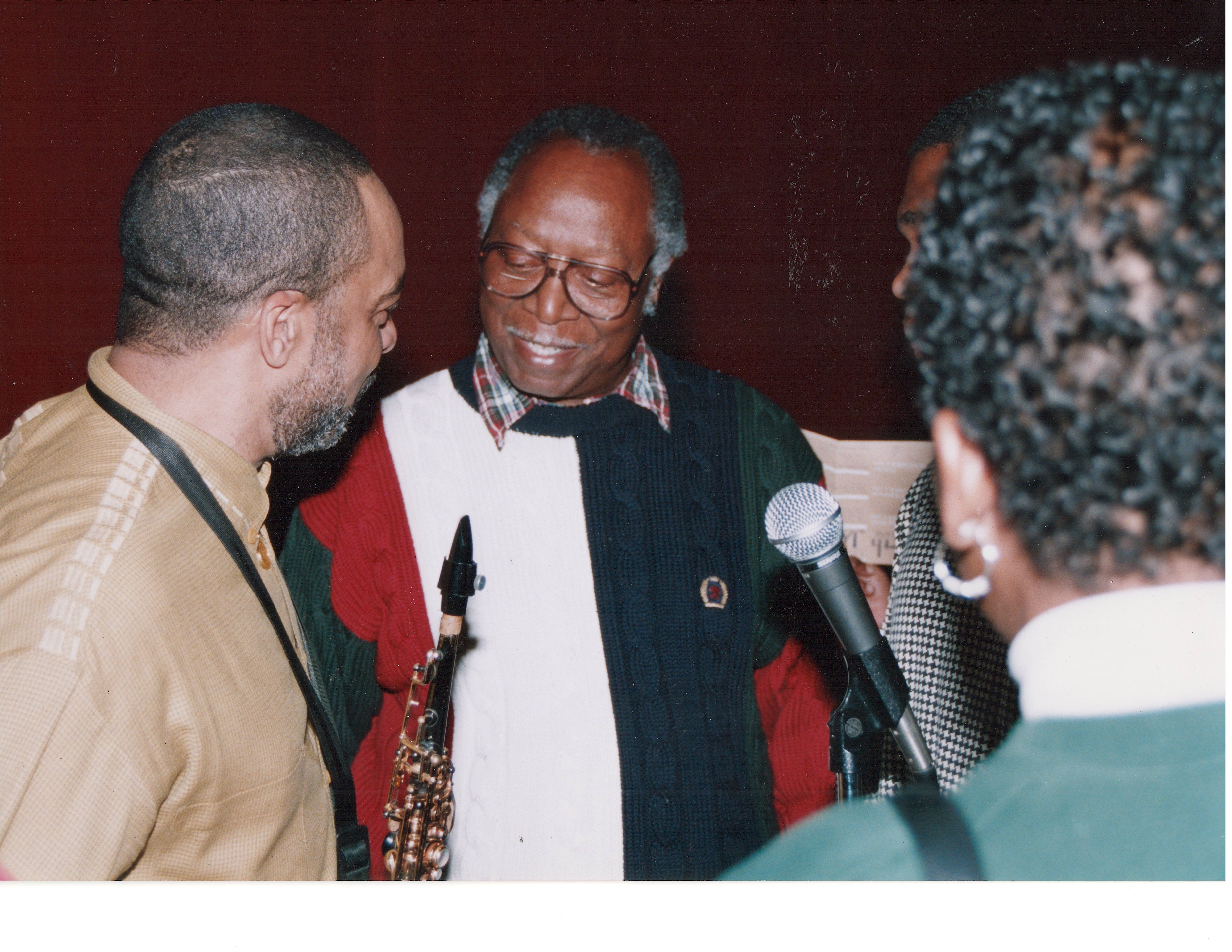 Dr. Lampkins with Mr. Grover Washington, Jr.